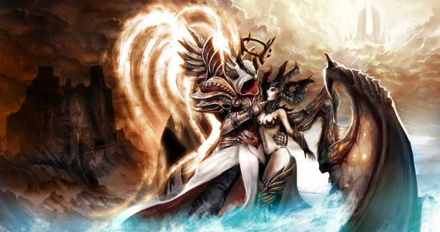 Diablo III Anniversary Inarius and Lilith by Ziom05
