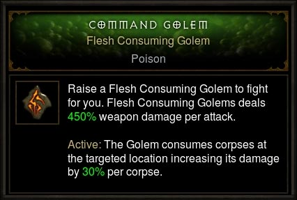 flesh consuming golem